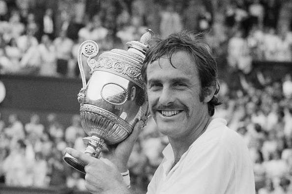 Australian tennis player John Newcombe wins the Men