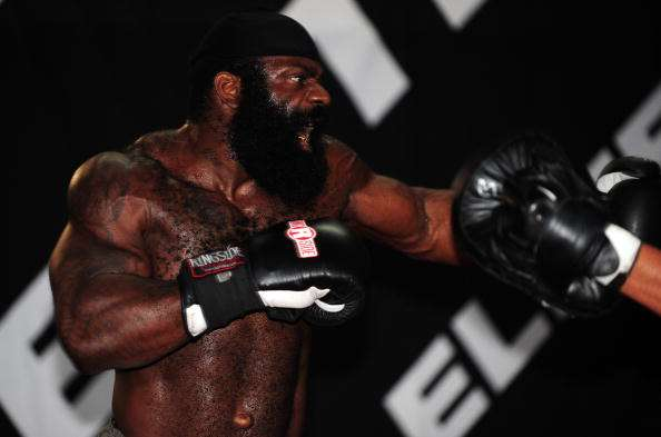 LOS ANGELES, CA - SEPTEMBER 17:  MMA Heavyweight Sensation Kimbo Slice is seen during the Workout/Media Day with Kimbo Slice and Gina Carano at the Legends Mixed Martial Arts Training Center on September 17, 2008 in Los Angeles, California.  (Photo by Robert Laberge/Getty Images)