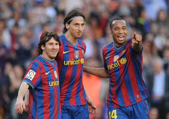 Barcelona Spain April  Lionel Messi L Zlatan Ibrahimovic