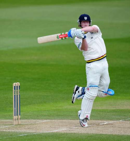 NOTTINGHAM, ENGLAND - MAY 13:  Ben Stokes of Durham in action on his way to his maiden century during day four of the LV County Championship match between Nottinghamshire and Durham at Trent Bridge on May 13, 2010 in Nottingham, England.  (Photo by Clive Mason/Getty Images)