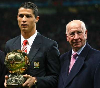 Cristiano Ronaldo Sir Bobby Charlton