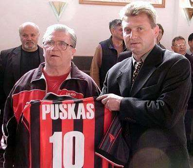 Budapest Honved retired Puskas' number ten jersey