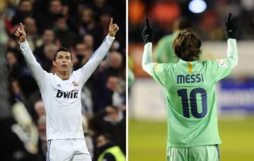 ronaldo and messi celebration