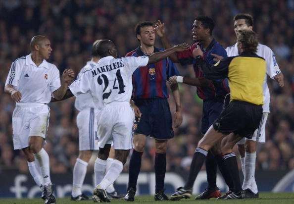 Real Madrid Fights With Barcelona