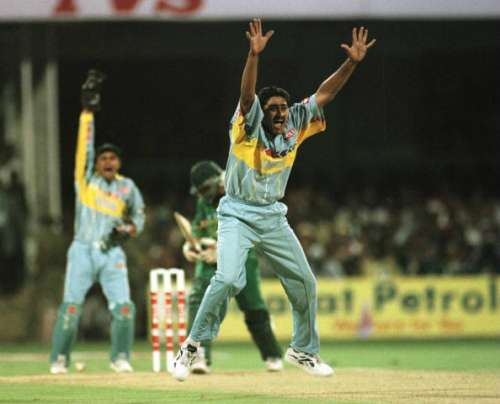 Kumble's three for 48 ended Pakistan's challenge in the 1996 World Cup.