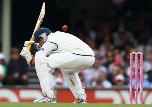 SYDNEY, AUSTRALIA - JANUARY 06: VVS Laxman of India ducks under a short ball during day four of the Second Test Match between Australia and India at the Sydney Cricket Ground on January 6, 2012 in Sydney, Australia.  (Photo by Ryan Pierse/Getty Images)