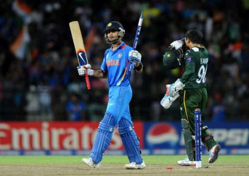 COLOMBO, SRI LANKA - SEPTEMBER 30:  Virat Kholi of India celebrates victory in the ICC T20 World Cup, Super Eight group 2 cricket match between Pakistan and India held at R. Premadasa Stadium on September 30, 2012 in Colombo, Sri Lanka.  (Photo by Pal Pillai/Getty Images)