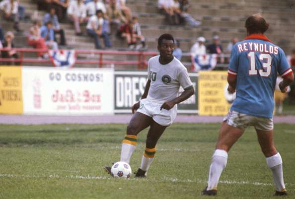 Pele played for two years at New York Cosmos