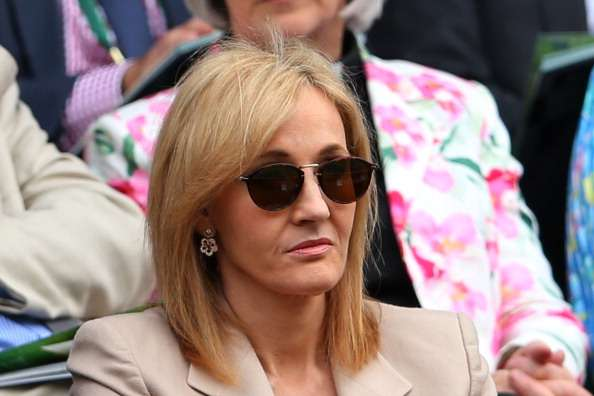 LONDON, ENGLAND - JUNE 25:  J.K. Rowling watches the Ladies