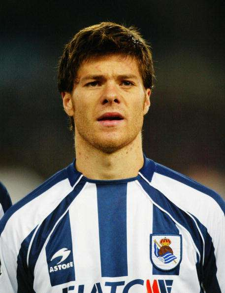 SAN SEBASTIAN - DECEMBER 10: A portrait of Xabi Alonso of Real Sociedad prior to the UEFA Champions League Group D match between Real Sociedad and Galatasaray on December 10, 2003 at Anoeta Stadium in San Sebastian, Spain.  The match ended in a 1-1 draw.  (Photo by Ross Kinnaird/Getty Images)