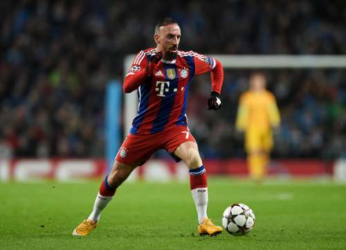MANCHESTER, ENGLAND - NOVEMBER 25:  Franck Ribery of Bayern Muenchen controls the ball during the UEFA Champions League Group E match between Manchester City and FC Bayern Muenchen at the Ethad Stadium on November 25, 2014 in Manchester, United Kingdom.  (Photo by Michael Regan/Getty Images)