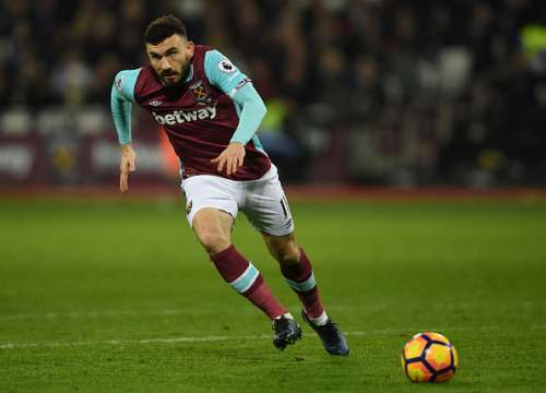 STRATFORD, ENGLAND - FEBRUARY 01:  Robert Snodgrass of West Ham United in action during the Premier League match between West Ham United and Manchester City at London Stadium on February 1, 2017 in Stratford, England.  (Photo by Mike Hewitt/Getty Images)