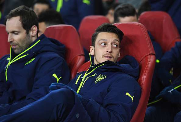 Image result for ozil bench