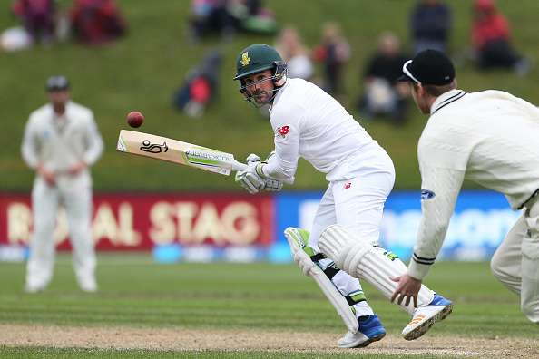 DUNEDIN, NEW ZEALAND - MARCH 10:  Dean Elgar of South Africa bats during day three of the First Test match between New Zealand and South Africa at University Oval on March 10, 2017 in Dunedin, New Zealand.  (Photo by Dianne Manson/Getty Images)