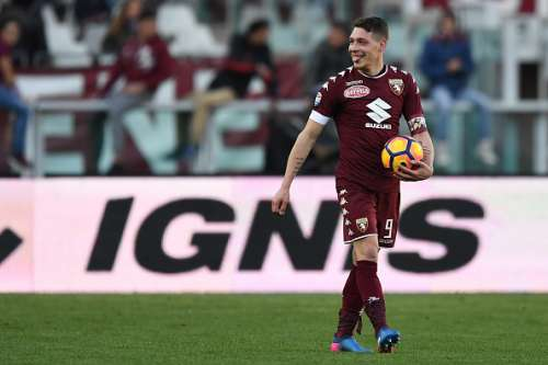 TURIN, ITALY - MARCH 05:  Andrea Belotti of FC Torino celebrates victory at the end of the Serie A match between FC Torino and US Citta di Palermo at Stadio Olimpico di Torino on March 5, 2017 in Turin, Italy.  (Photo by Valerio Pennicino/Getty Images)