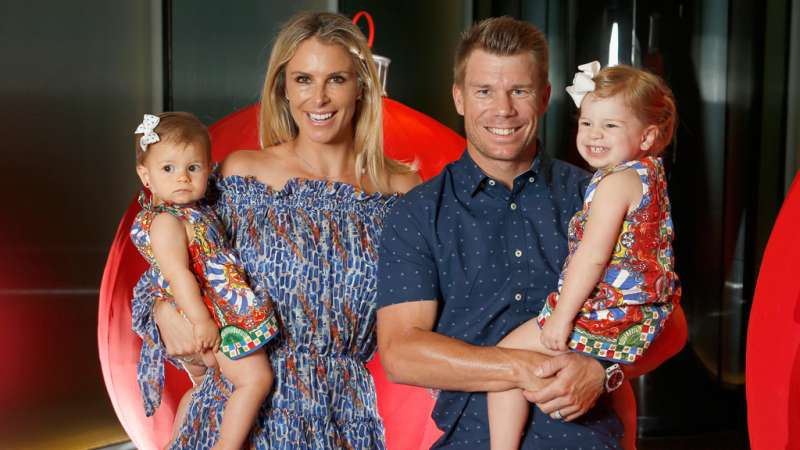 Video: David Warner's daughter runs and hugs life-size poster of ...