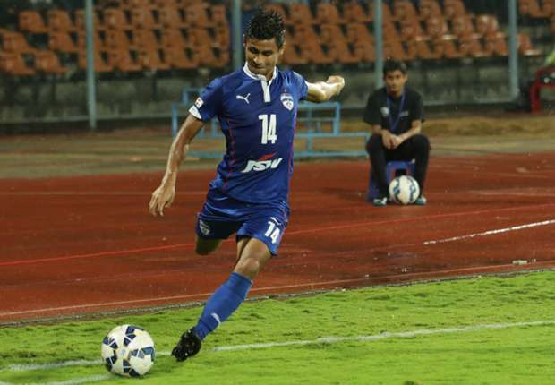 Eugeneson Lyngdoh won the I-League with Bengaluru FC in 2016