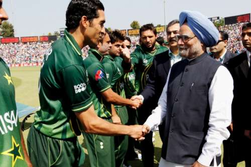 India Pakistan  2011 World Cup Manmohan Singh.jpg