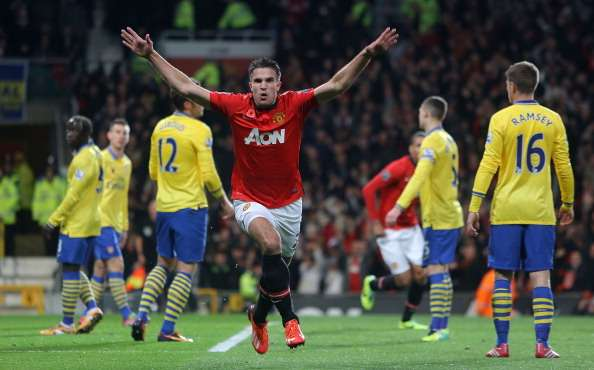 Robin van Persie goal Arsenal Manchester United