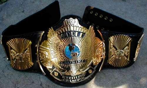 The iconic WWF Winged Eagle belt.