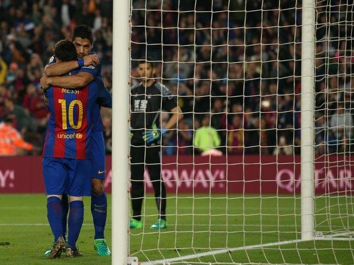 Soccer Football - Barcelona v Real Sociedad - Spanish La Liga Santander - Camp Nou stadium, Barcelona, Spain - 15/04/2017. Barcelona