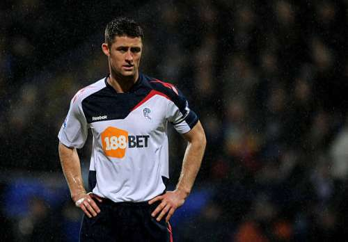 BOLTON, ENGLAND - DECEMBER 31:  Gary Cahill of Bolton Wanderers looks on during the Barclays Premier League match between Bolton Wanderers and Wolverhampton Wanderers at the Reebok Stadium on December 31, 2011 in Bolton, England.  (Photo by Chris Brunskill/Getty Images)