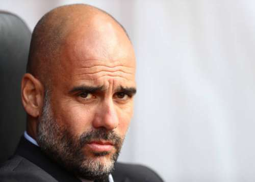 SOUTHAMPTON, ENGLAND - APRIL 15:  Josep Guardiola, Manager of Manchester City looks on prior to the Premier League match between Southampton and Manchester City at St Mary's Stadium on April 15, 2017 in Southampton, England.  (Photo by Michael Steele/Getty Images)