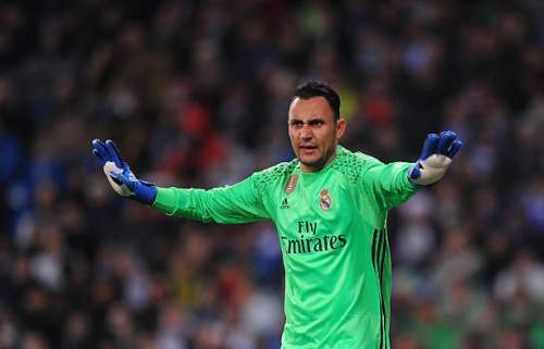 MADRID, SPAIN - JANUARY 29: Keylor Navas of Real Madrid reacts during the La Liga match between Real Madrid CF and Real Sociedad de Futbol at the Bernabeu on January 29, 2017 in Madrid, Spain. (Photo by Denis Doyle/Getty Images)