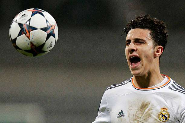 PARIS, FRANCE - MARCH 11:  Mario Hermoso of Real Madrid in action during the UEFA Youth League Quarter Final match between Paris Saint-Germain FC and Real Madrid at Stade Charlety on March 11, 2014 in Paris, France.  (Photo by Dean Mouhtaropoulos/Getty Images)