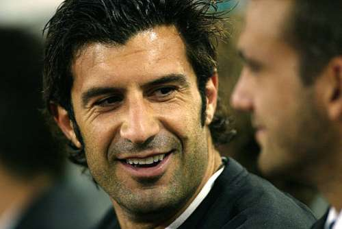 ROME - 17 SEPTEMBER:  Portrait of Luis Figo of Real Madrid during the UEFA Champions League First Phase Group C match between AS Roma and Real Madrid at the Stadio Olimpico in Rome, Italy on September 17, 2002. Real Madrid won 3-0. (photo by Gary M.Prior/Getty Images)