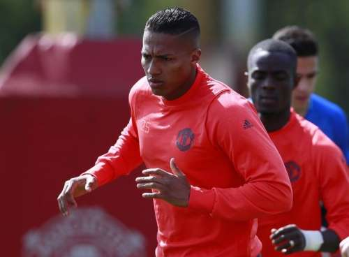 Britain Soccer Football - Manchester United Training - Manchester United Training Ground - 3/5/17 Manchester United's Antonio Valencia and Eric Bailly during training Action Images via Reuters / Jason Cairnduff/ Livepic/ Files