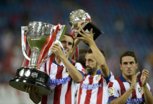 Atletico Madrid La Liga trophy August 2014
