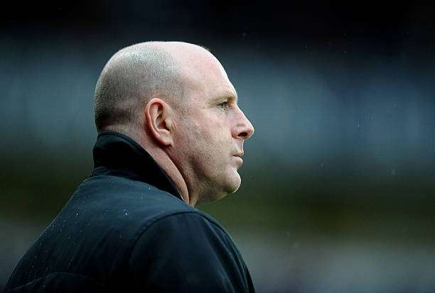 BLACKBURN, ENGLAND - MAY 07:  Blackburn Rovers Manager Steve Kean looks on prior to the Barclays Premier League match between Blackburn Rovers and Wigan Athletic at Ewood Park on May 7, 2012 in Blackburn, England.  (Photo by Laurence Griffiths/Getty Images)