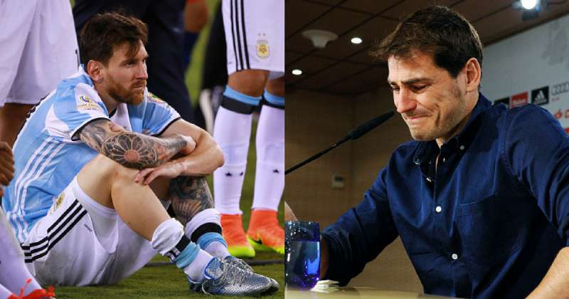 Lionel Messi and Iker Casillas
