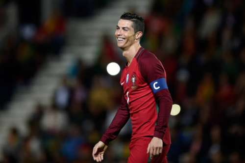 FUNCHAL, MADEIRA, PORTUGAL - MARCH 28: Cristiano Ronaldo of Portugal in action during the International friendly match between Portugal and Sweden at Barreiros stadium  on March 28, 2017 in Funchal, Madeira, Portugal. (Photo by Octavio Passos/Getty Images)