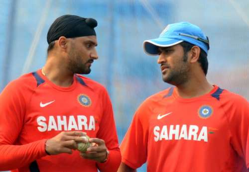 Harbhajan Singh MS Dhoni India Cricket