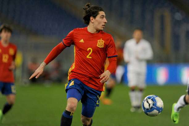 ROME, ITALY - MARCH 27:  Hector Bellerin during the international friendly match between Italy U21 and Spain U21 at Olimpico Stadium on March 27, 2017 in Rome, Italy.  (Photo by Marco Rosi/Getty Images)