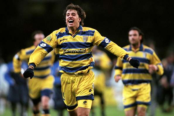 86db1132d Hernan Crespo Parma 1999 Hernan Crespo scored the opener in the UEFA Cup  final