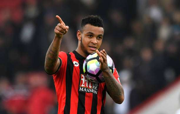 BOURNEMOUTH, ENGLAND - MARCH 11:  Joshua King of AFC Bournemouth shows appreciation to the fans after the Premier League match between AFC Bournemouth and West Ham United  at Vitality Stadium on March 11, 2017 in Bournemouth, England.  (Photo by Stu Forster/Getty Images)
