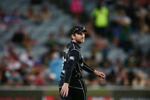 AUCKLAND, NEW ZEALAND - MARCH 04:  Kane Williamson of New Zealand checks the scoreboard during game five of the One Day International series between New Zealand and South Africa at Eden Park on March 4, 2017 in Auckland, New Zealand.  (Photo by Anthony Au-Yeung/Getty Images)