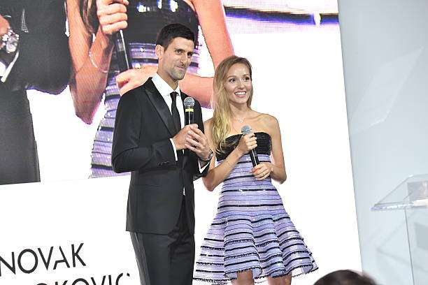 MILAN, ITALY - SEPTEMBER 20  Novak Djokovic and Jelena Djokovic attend the Milano  Gala 11121e353a1