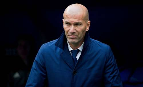 MADRID, SPAIN - APRIL 29:  Real Madrid manager Zinedine Zidane looks on from the sideline before the start of the La Liga match between Real Madrid CF and Valencia CF at Estadio Santiago Bernabeu on April 29, 2017 in Madrid, Spain.  (Photo by Denis Doyle/Getty Images)
