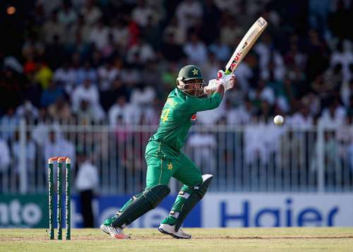 SHARJAH, UNITED ARAB EMIRATES - SEPTEMBER 30: Sarfraz Ahmed of Pakistab bats  during the first One Day International match between Pakistan and West Indies at Sharjah Cricket Stadium on September 30, 2016 in Sharjah, United Arab Emirates.  (Photo by Francois Nel/Getty Images)