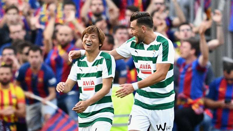 10868fb93b7 Japan international Inui makes history with Barcelona goal