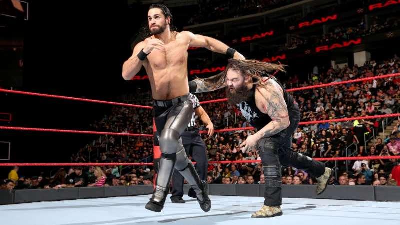 raw Wyatt VS Seth Rollins battle