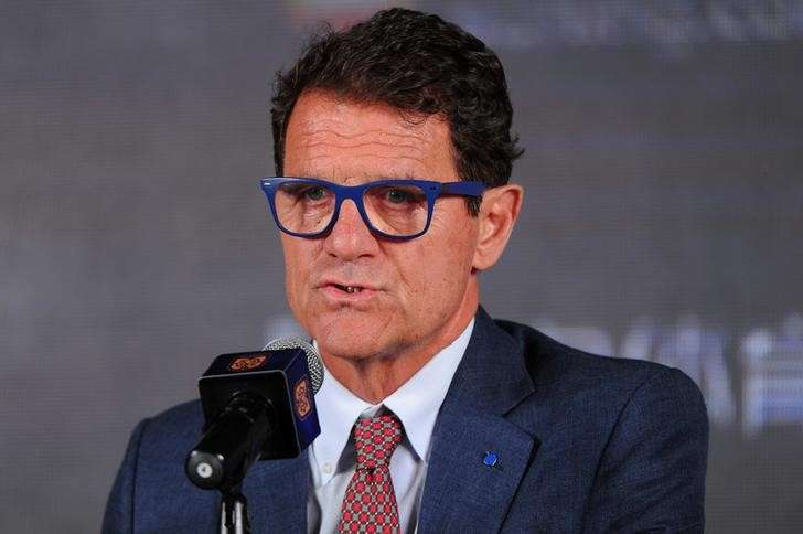 Fabio Capello, new head coach of Chinese Super League Jiangsu Suning club, speaks during a news conference in Nanjing, Jiangsu province, China June 14, 2017. REUTERS/Stringer/Files