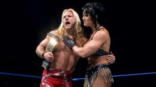 Chyna and Jericho became co - Intercontinental Champions, after they pinned each other at the same time
