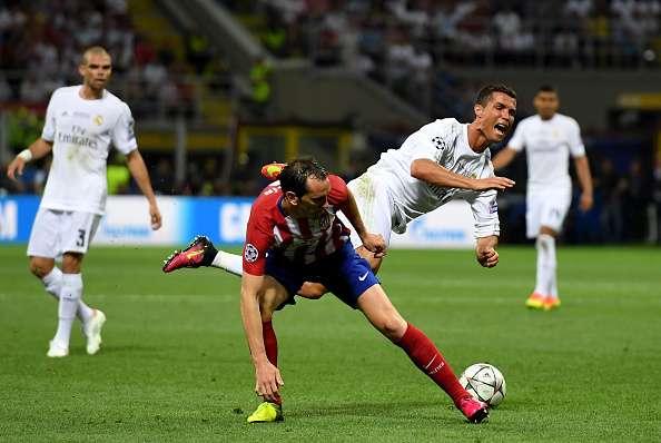 Image result for Diego Godin vs ronaldo
