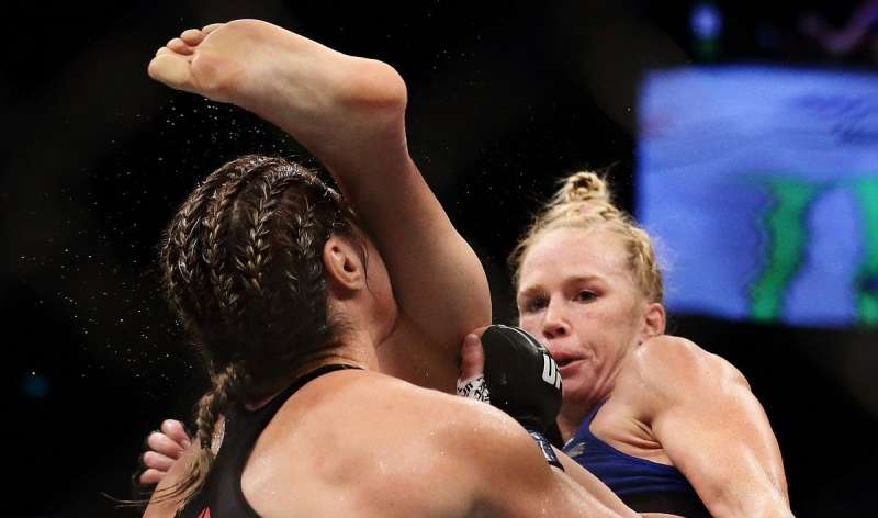 results rousey vs holm