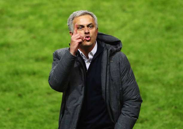 STOCKHOLM, SWEDEN - MAY 24:  Jose Mourinho, Manager of Manchester United celebrates following the UEFA Europa League Final between Ajax and Manchester United at Friends Arena on May 24, 2017 in Stockholm, Sweden.  (Photo by Alex Grimm/Getty Images)